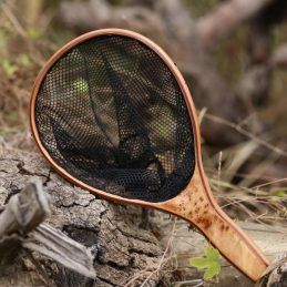 FREE-SHIPPING-MAXWAY-FLY-FISHING-NET-WOODEN-NET-WATERPROOF-UV-RESISTENT-FISHING-NET